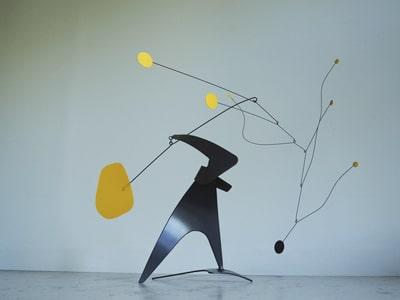 sculpture, stabile, mobile, intérieure