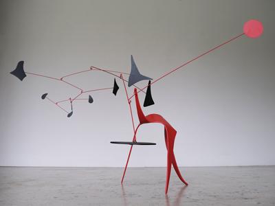 sculpture rouge cinétique paradox